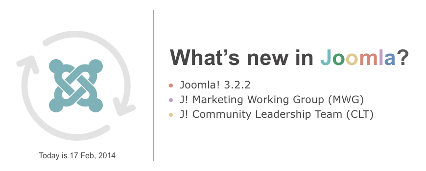 Recent Joomla Updates in 2014