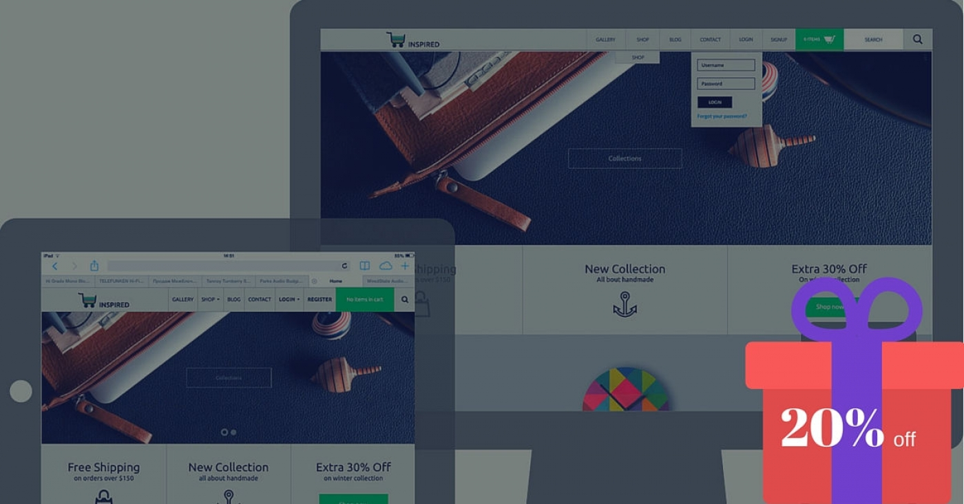 B2J Inspired : An Awesome Joomla E-commerce Template Is Here  Now