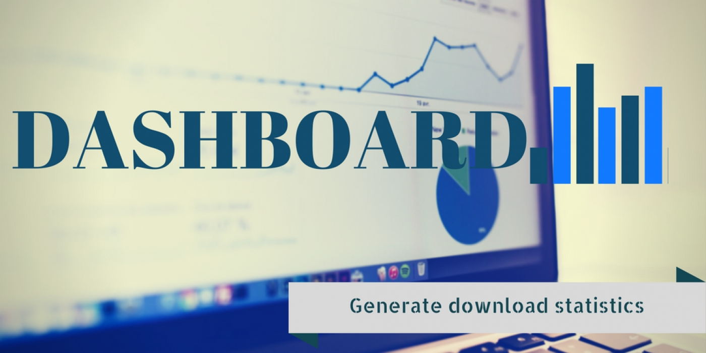 Dashboard to generate statistics of data downloaded from a joomla website.