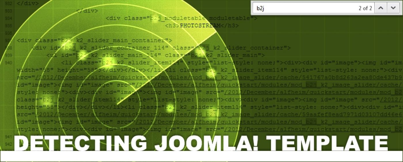 Bang2Joom blog: What's that Joomla template?!?