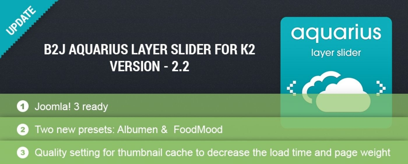 UPDATE! B2J Aquarius Layer Slider for K2 v.2.2